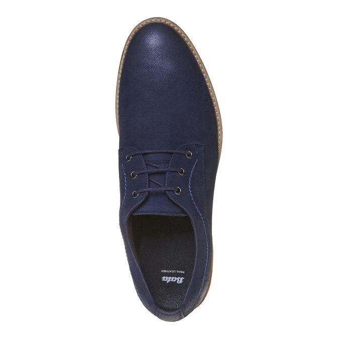 Chaussure lacée décontractée en cuir bata, Violet, 826-9642 - 19