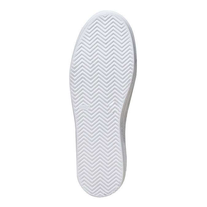 Slip-on en cuir pour femme north-star, Blanc, 514-1265 - 26