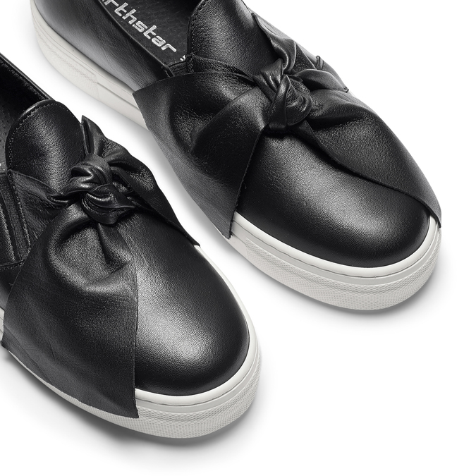 Slip-on en cuir north-star, Noir, 514-6264 - 19