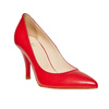 Escarpin rouge en cuir bata, Rouge, 724-5607 - 13