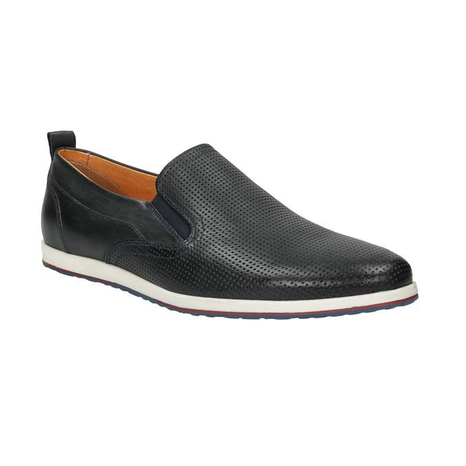 Chaussure Slip On en cuir pour homme bata, Violet, 814-9148 - 13