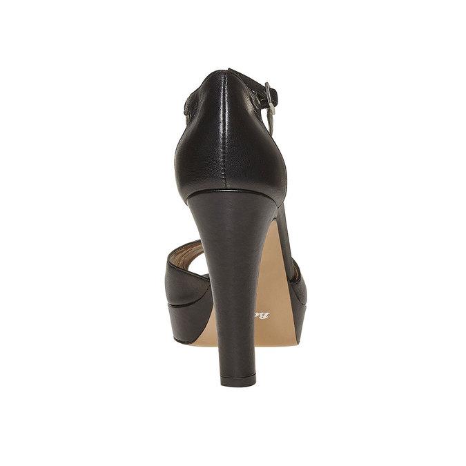 Sandale en cuir pour femme bata, Noir, 724-6708 - 17