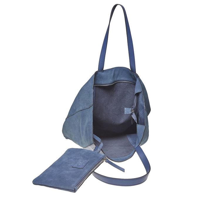 Sac à main en cuir avec pochette bata, Bleu, 964-9185 - 15