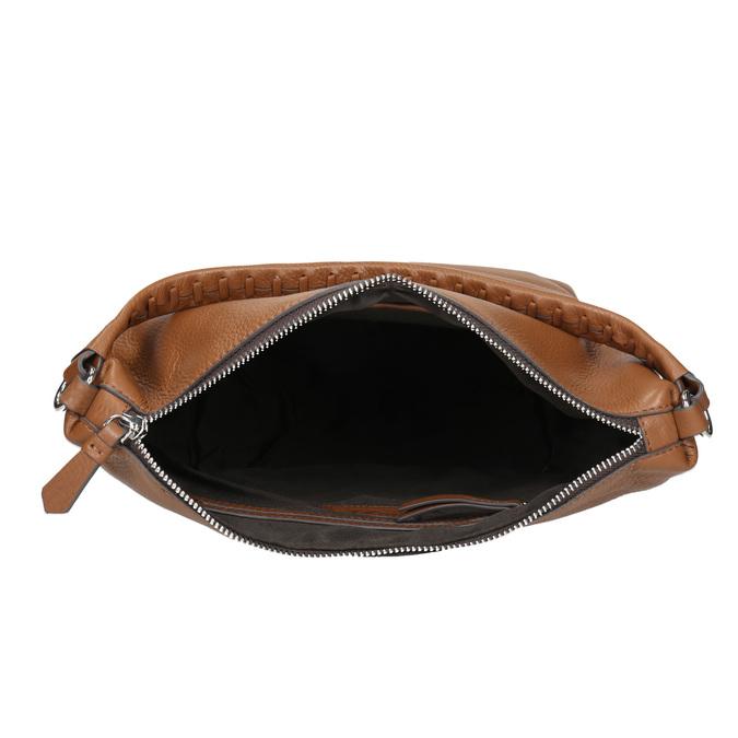 Sac bandoulière en cuir bata, Brun, 964-3121 - 15