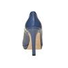 Escarpin bleu à bout ouvert bata, Violet, 724-9721 - 17
