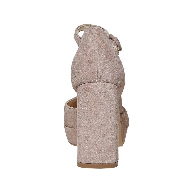 Escarpin en cuir pour femme insolia, Gris, 723-2962 - 17
