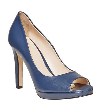 Escarpin bleu à bout ouvert bata, Violet, 724-9721 - 13
