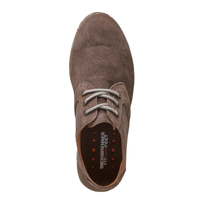 Chaussure lacée décontractée en cuir weinbrenner, Brun, 843-4414 - 19