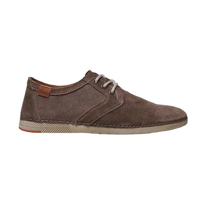 Chaussure lacée décontractée en cuir weinbrenner, Brun, 843-4414 - 15