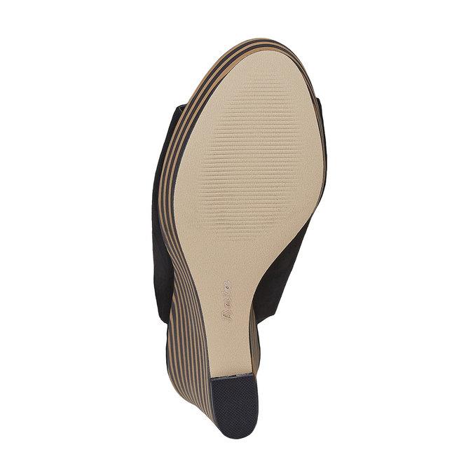 Sandale femme à plateforme épaisse insolia, Noir, 769-6559 - 26
