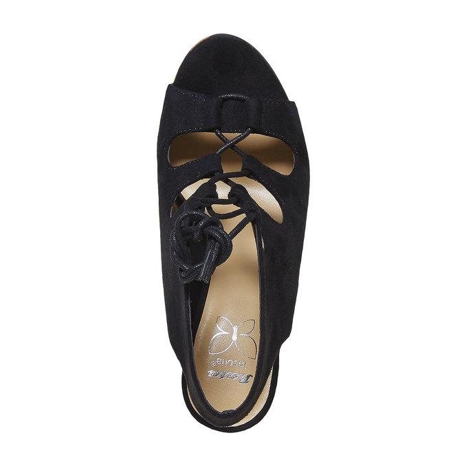 Sandale femme à plateforme épaisse insolia, Noir, 769-6559 - 19