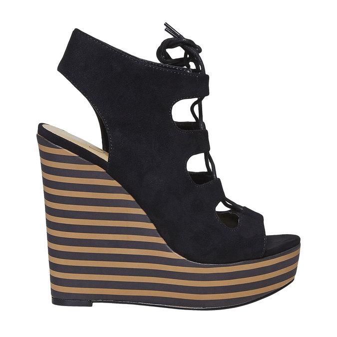 Sandale femme à plateforme épaisse insolia, Noir, 769-6559 - 15