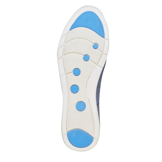 Chaussure lacée en cuir bleue bata, Violet, 526-9567 - 26