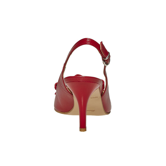 Escarpin en cuir à nœud bata, Rouge, 724-5703 - 17
