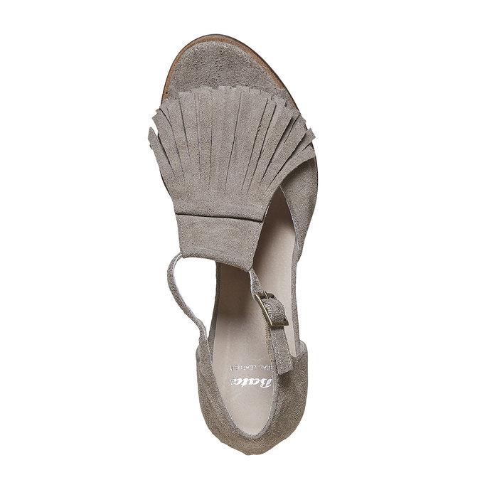 Sandale à franges femme bata, Jaune, 763-8519 - 19