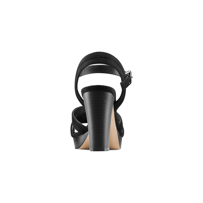 Sandale femme à talon stable insolia, Noir, 769-6700 - 15