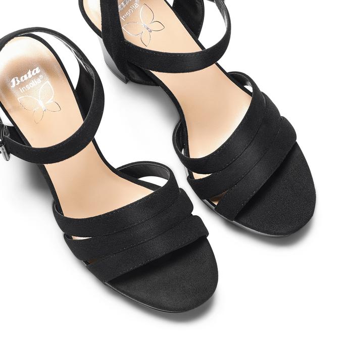 Sandale femme à talon stable insolia, Noir, 769-6700 - 26
