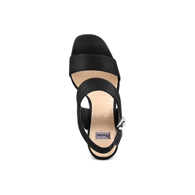 Sandale à talon massif bata, Noir, 769-6541 - 17