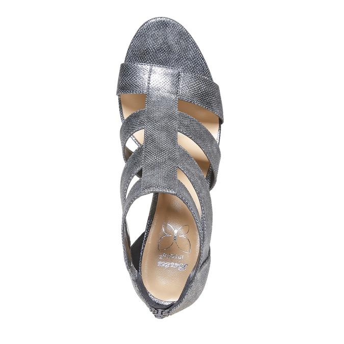 Sandale femme à talon aiguille insolia, Gris, 761-2399 - 19