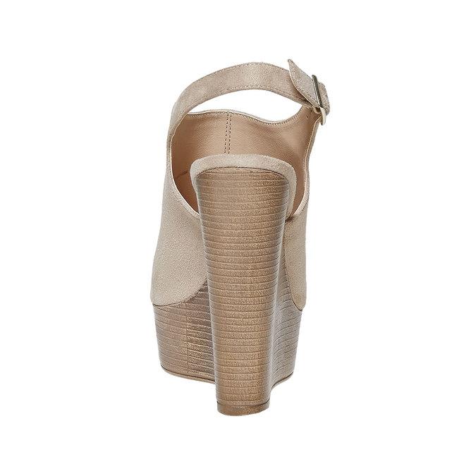 Sandale femme à plateforme épaisse insolia, Gris, 769-2501 - 17