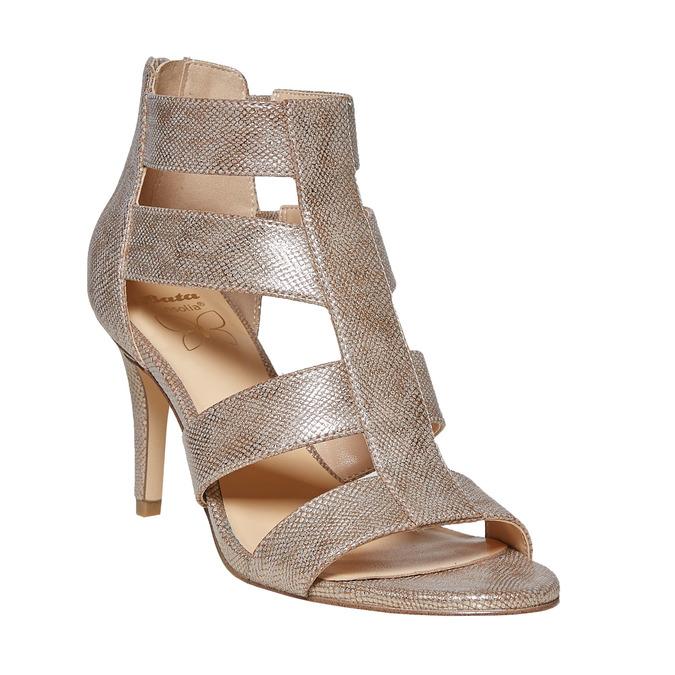 Sandale dorée femme insolia, Jaune, 761-8399 - 13
