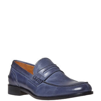 Penny Loafer en cuir bata-the-shoemaker, Violet, 814-9160 - 13