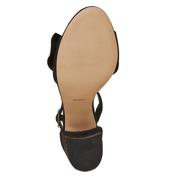 Sandale à talon avec nœud insolia, Noir, 769-6253 - 26