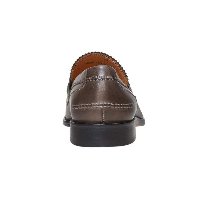 Penny Loafer en cuir bata-the-shoemaker, Gris, 814-2160 - 17