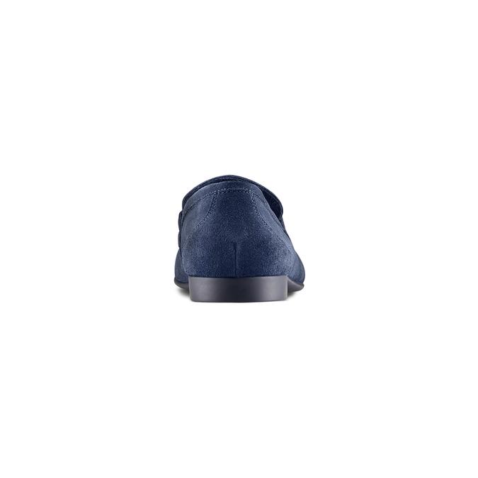 Mocassin en cuir bleu flexible, Violet, 853-9172 - 15