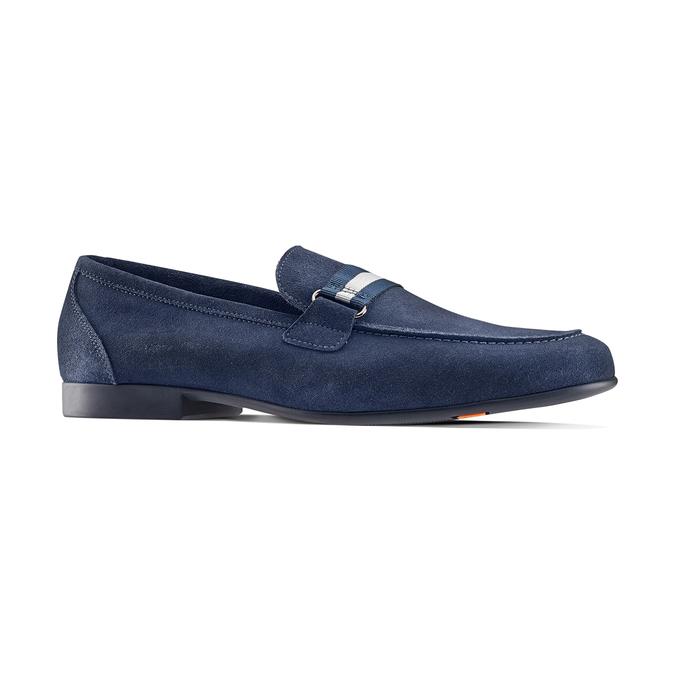 Mocassin en cuir bleu flexible, Violet, 853-9172 - 13