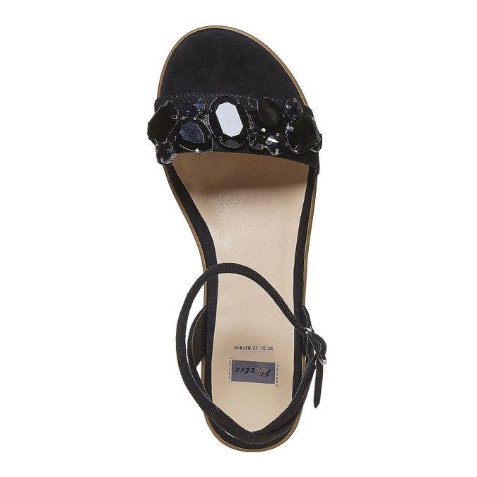 Sandale femme à plateforme épaisse bata, Noir, 669-6234 - 19