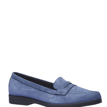 Chaussures en cuir style Penny Loafer flexible, Bleu, 516-9112 - 13