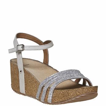 Chaussures Femme bata, Gris, 661-2213 - 13