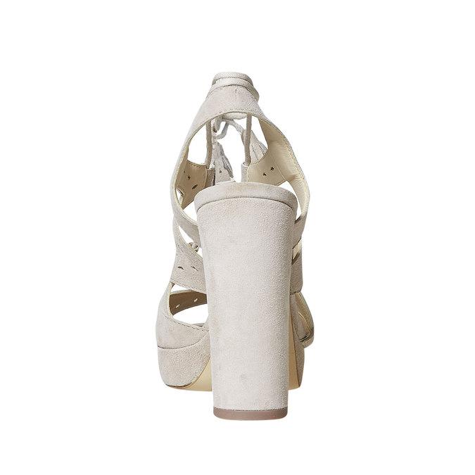 Sandale à lacet en cuir femme bata, Jaune, 763-8580 - 17