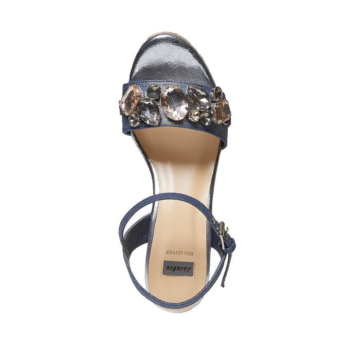 Sandale femme avec pierres bata, Violet, 769-9575 - 19