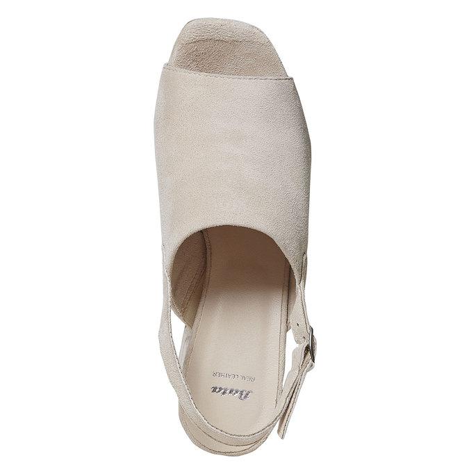 Sandale en cuir à talon massif bata, 763-8577 - 19