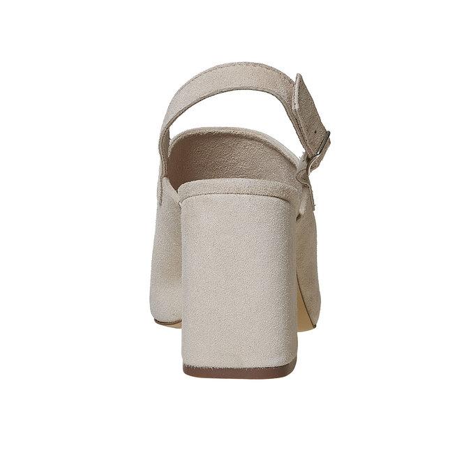 Sandale en cuir à talon massif bata, 763-8577 - 17