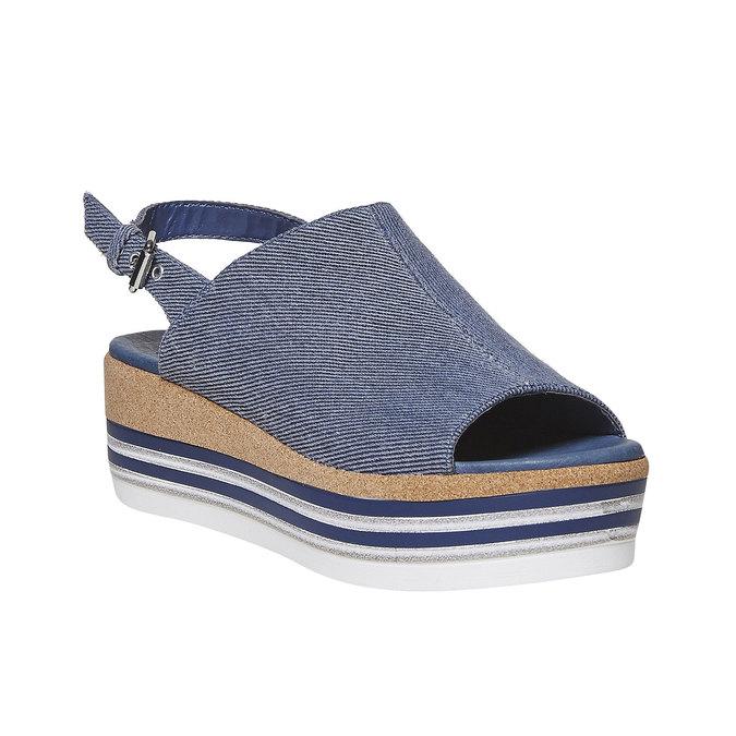 Sandale en jean à plateforme bata, Violet, 669-9241 - 13