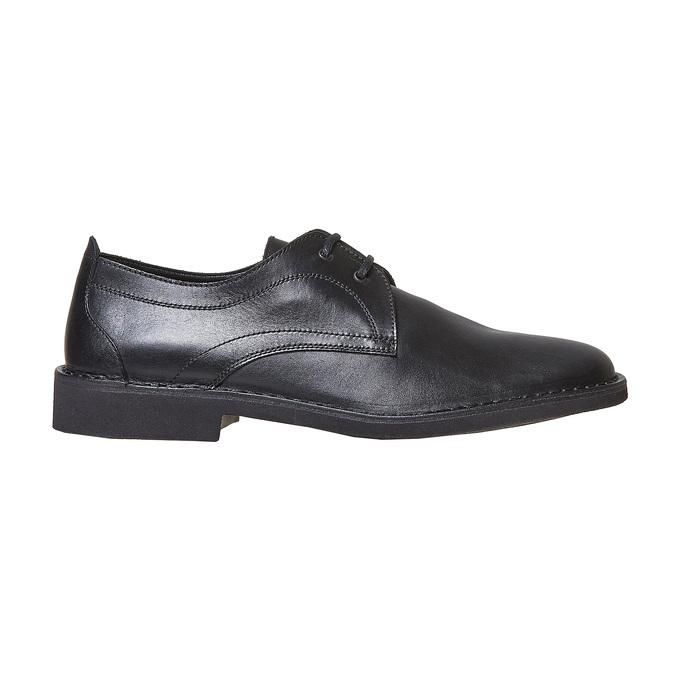 Chaussure lacée en cuir pour homme bata, Noir, 854-6111 - 15