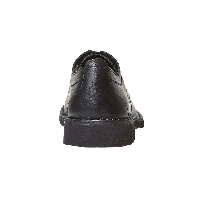 Chaussure lacée en cuir pour homme bata, Noir, 854-6111 - 17