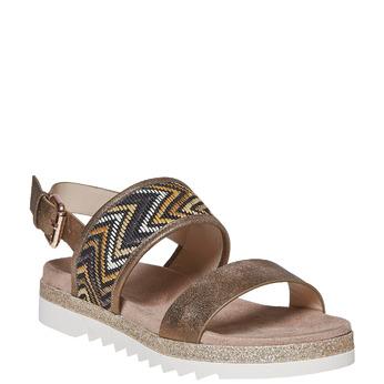 Sandale femme à semelle épaisse bata, Jaune, 569-8438 - 13