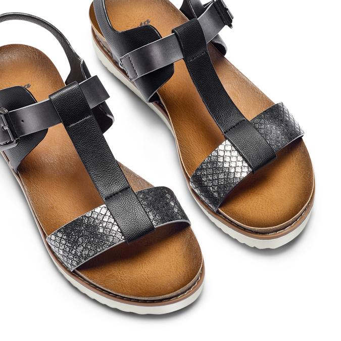 Sandale femme semelle épaisse bata, Noir, 561-6295 - 26