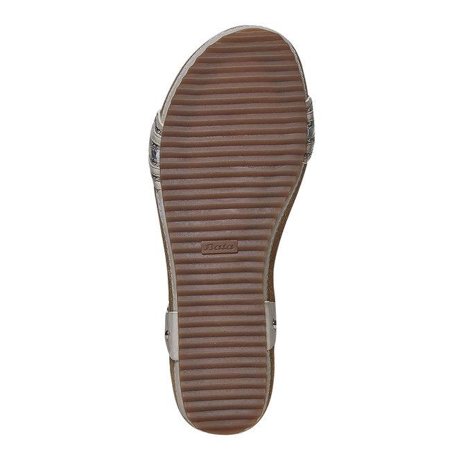 Sandale femme à semelle épaisse bata, Gris, 561-2404 - 26