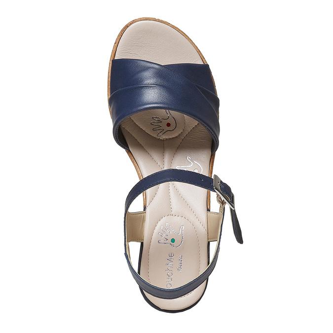 Sandale bleue à talon effet naturel bata-touch-me, Violet, 664-9231 - 19