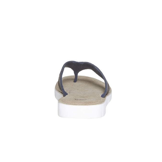 Tong en cuir à semelle blanche bata, Violet, 863-9273 - 17