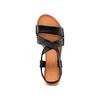 Sandale en cuir à arrière élastique bata, Noir, 564-6443 - 17