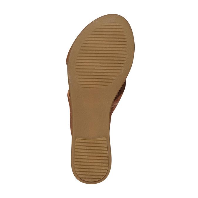 Nu-pied en cuir femme bata, Brun, 564-3444 - 26