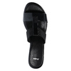 Sandale femme à talon bas bata, Noir, 671-6835 - 19