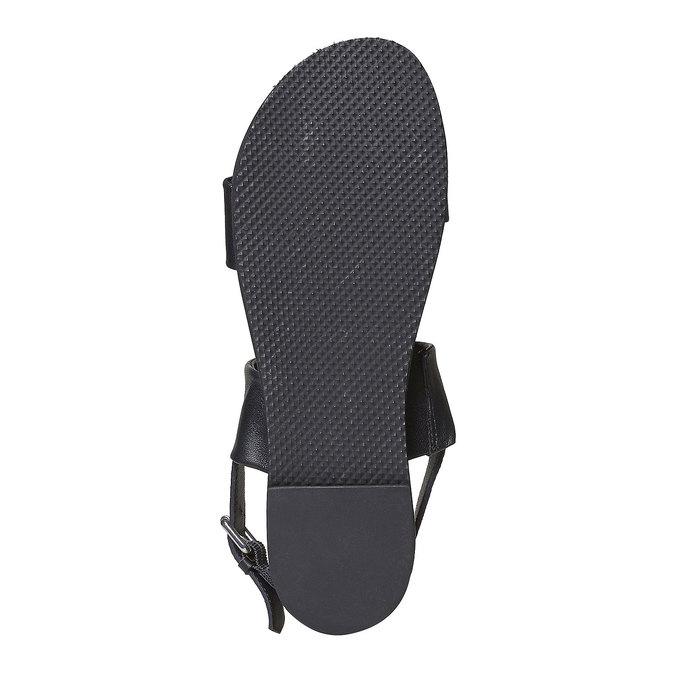 Sandale en cuir femme bata, Noir, 564-6446 - 26