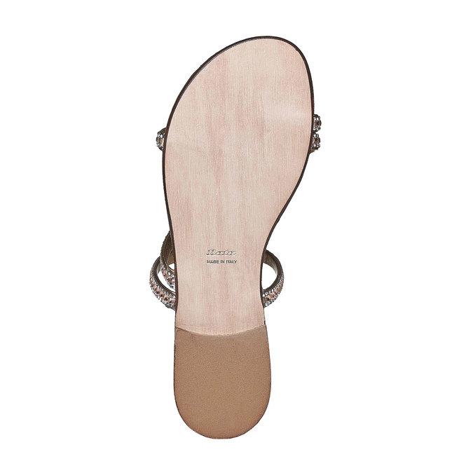 Sandale femme avec petites pierres bata, Jaune, 571-8169 - 26